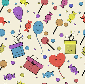 Seamless Pattern For Happy Birthday Celebration