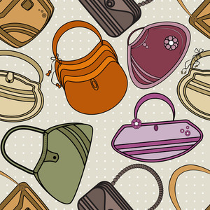 Seamless Pattern For Ladies Handbags