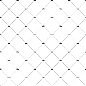 Seamless Pattern With Crowns Vector Illustration