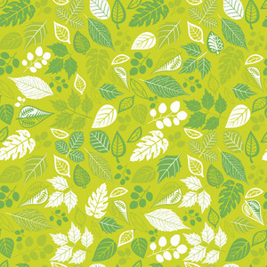 Seamless Pattern With Leaf. Copy That Square To The Side And You'll Get Seamlessly Tiling Pattern Which Gives The Resulting Image The Ability To Be Repeated Or Tiled Without Visible Seams.