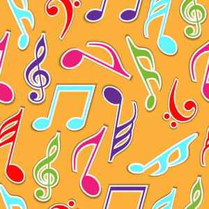 Seamless Pattern With Musical Notes