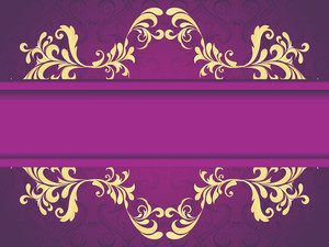 Seamless Purple Background With Artwork