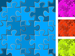 Seamless Puzzle Vector Set.