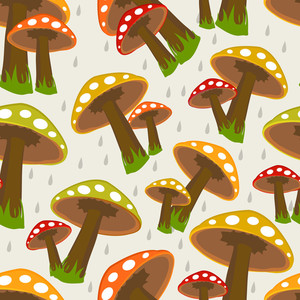 Seamless Rainy Season Background