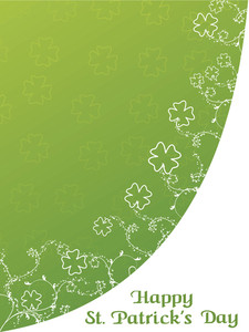 Seamless Shamrock Background With Border Pattern