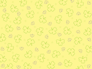Seamless Shamrock Pattern Illustration