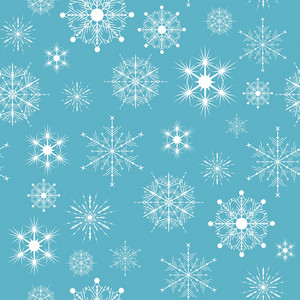 Seamless Snow Flakes  Vector Pattern