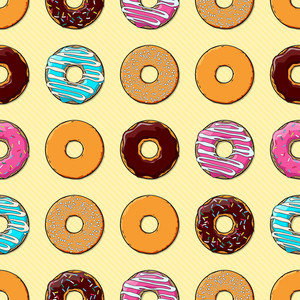 Seamless Texture Of Donuts