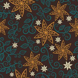 Nahtlose Textur mit Blumen. Endless Blumenmuster. Nahtlose Muster für Tapeten verwendet werden
