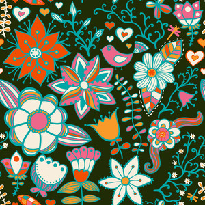 Seamless Texture With Flowers