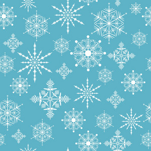 Seamless Vector Snow Flakes