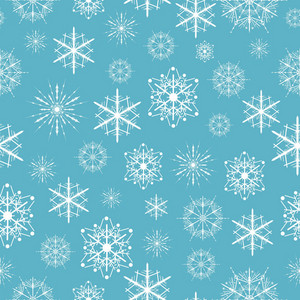 Seamless Vector Snowflakes