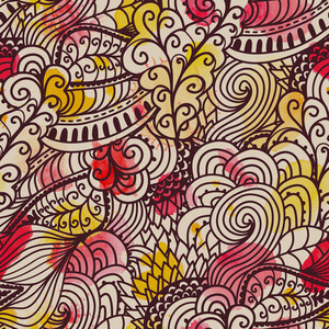 Seamless Wave Hand-drawn Pattern. Watercolor Vector Seamless Pattern.can Be Used For Wallpaper