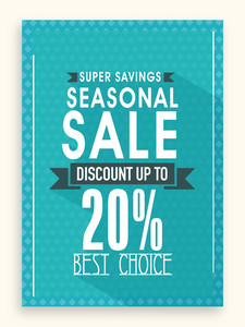 Seasonal sale flyer banner or template design with best savings