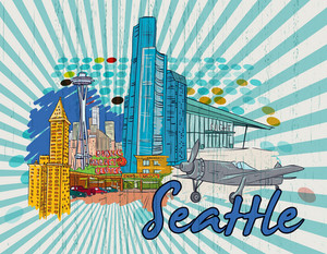 Seattle Doodles Vector Illustration