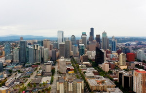 Seattle Tall Buildings Skyline