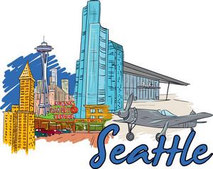 Seattle Vector Doodle