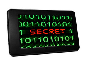 Secret Text On Pc Tablet