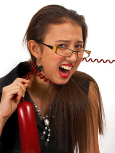 Secretary Frustrated Over Telephone Call