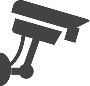 Security Camera Glyph Icon