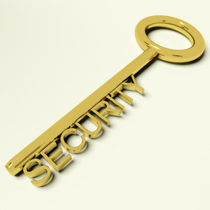 Security Key Representing Safety And Encryption