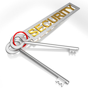 Security Keys Shows Secure Locked And Safe