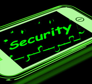 Security On Smartphone Shows Secure Password