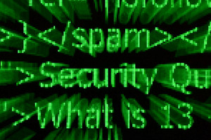 Security Pixel Text Concept