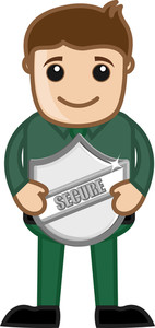 Security Shield - Cartoon Vector