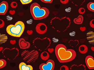 Seemless Love Heart Pattern.vector Illustration.