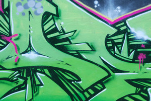 Segment Of A Colorful Graffiti On A Wall