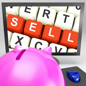 Sell Keys On Monitor Showing Online Marketing