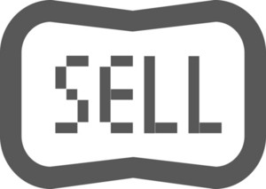 Sell Sign Stroke Icon
