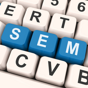 Sem Keys Shows Online Marketing Or Search Engine Optimization