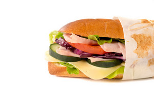Sendwich Isolated On White
