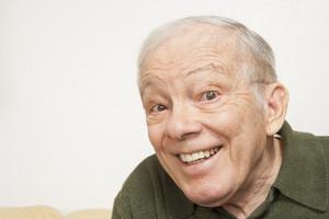 Senior man making expression