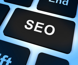 Seo Computer Key Showing Internet Marketing And Optimization