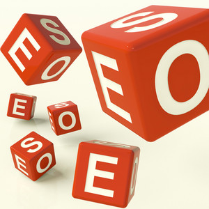 Seo Dice Representing Internet Optimization And Development