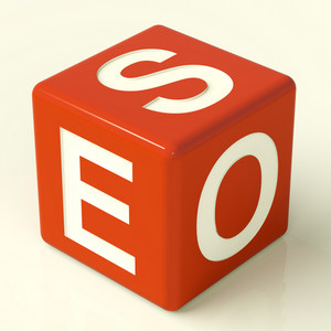 Seo Dice Representing Internet Optimization And Promotion