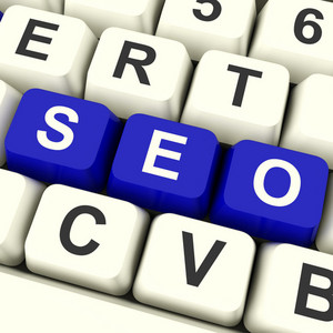 Seo Keys Representing Internet Optimization And Promotion