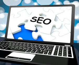 Seo On Laptop Shows Search Engine Optimization