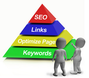 Seo Pyramid Showing The Use Of Keywords Links And Optimizing