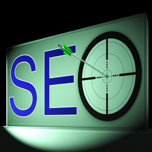 Seo Target Shows Search Engine Optimization And Promotion