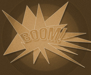 Sepia Boom Vintage Background