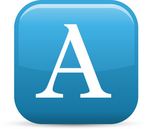 Serif Letter Elements Glossy Icon