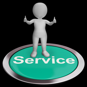 Service Button Meaning Help Support And Assistance