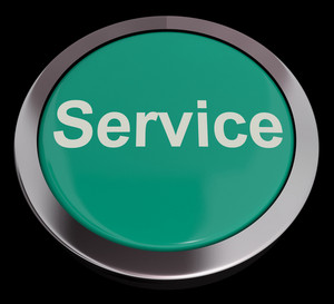 Service Button Showing Help Support And Assistance