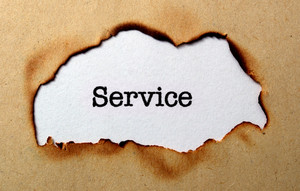 Service Text On Paper Hole