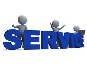 Service Word Showing Assistance Or Helpdesk
