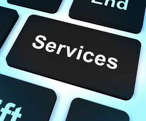 Services Computer Key Shows Help And Assistance